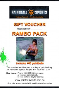 Paintball Sports gift voucher